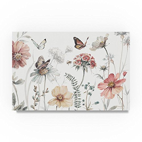 Butterfly Wall Lace (Trademark Fine Art A Country Weekend I by Lisa Audit, 22x32-Inch Canvas Wall Art)