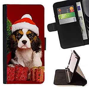 Jordan Colourful Shop - Christmas Dog Puppy For Apple Iphone 6 PLUS 5.5 - Leather Case Absorci???¡¯???€????€?????????&Atil