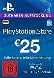 PlayStation Store Guthaben-Aufstockung | 25 EUR | PS4, PS3, PS Vita PSN Download Code - deutsches Konto