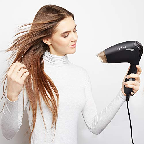 Lifelong LLPCW02 Foldable Hair Dryer for Women with One Year Warranty (Black)