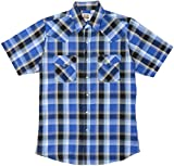 Ely Cattleman Men's Assorted Plaid Or Stripe Short Sleeve Western Shirt - 15202607Rg-97_X3