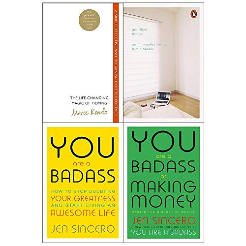 Price comparison product image Life changing magic of tidying,  goodbye things,  you are a badass,  making money 4 books collection set