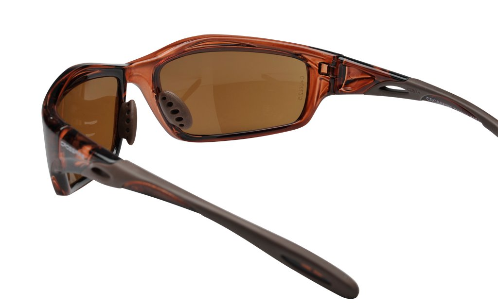 5 Pack Crossfire 2117 Infinity Safety Glasses HD Brown Flash Mirror Lens - Crystal Brown Frame x 5