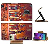 Liili Premium Samsung Galaxy Note 4 Flip Pu Leather Wallet Case IMAGE ID: 9845534 Many people on the fresco in museum antropology in Mexico
