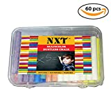 NXT Dustless Multicolor Chalks (60 Counts) Premium Quality, Non Toxic, Easily Washable and Eco Friendly Chalks