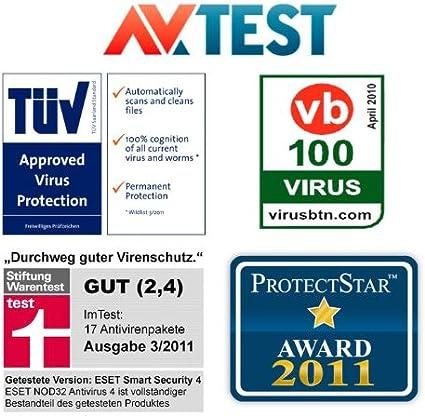 ESET Smart Security 5, 3PC, 3 usuario(s), 1 Año (importado de Alemania): Amazon.es: Software