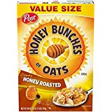Honey Bunches of Oats with Crunchy Honey Roasted Cereal - VALUE SIZE 28 oz. (Pack of 2)