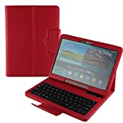Cooper Cases(TM) CEO Keyboard Folio Case for Samsung Galaxy Tab S 10.5 T800/T805 in Red (Magnetic Detachable...