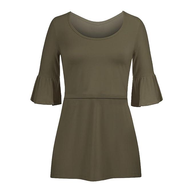 Meedot Womens Nursing Tops Stillen Shirt Pflege Kleidung Kurzarm