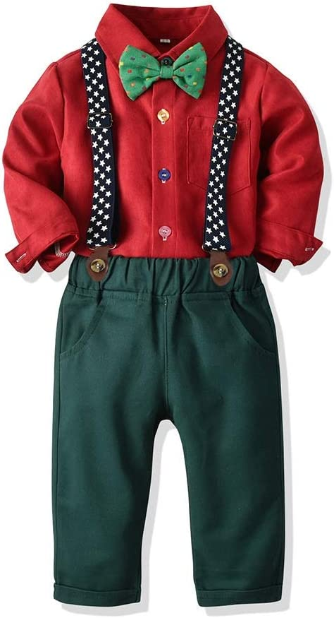 PUJIANGxian BoyVarious Pana Camisa Cómoda De Algodón De Manga Larga Camisa De Juego De Los Guardapolvos Hankie (Color : Red, Size : 110cm): Amazon.es: Hogar