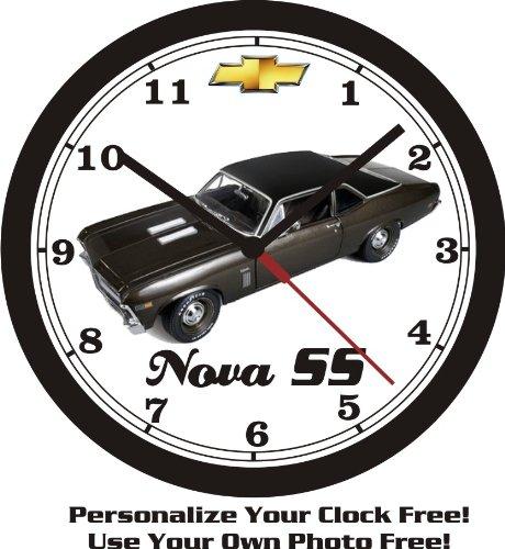 (1969 CHEVROLET NOVA SS WALL CLOCK-FREE USA SHIP-Choose 1 of 2)