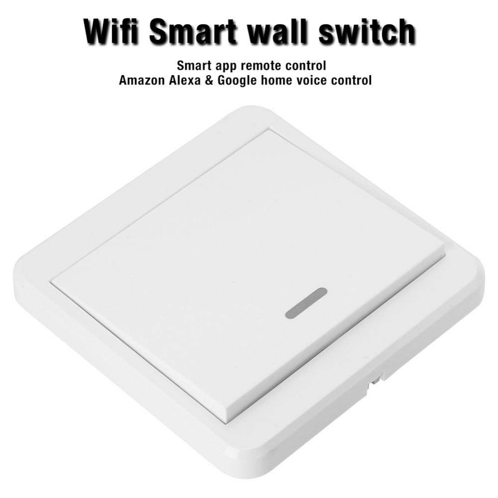 1Way Interruptor de luz inteligente WifI Interruptor inal/ámbrico para Smart Switch Soporte para ALEXA Google Home AC 90-250 V