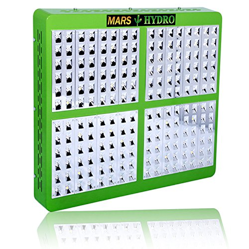 MarsHdyro Reflector192 Led Grow Light with 410W True Watt for Hydroponic Indoor Garden and Greenhouse Full Spectrum Veg and Bloom Switches added
