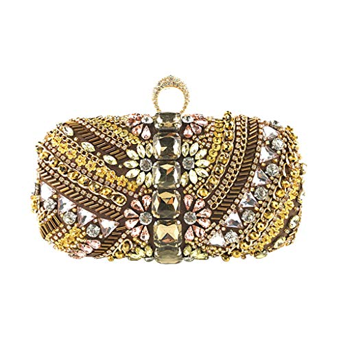UMFun Women Sequin Decoration Clutches Evening Chain Crossbody Bags Party Handbag Gold ()