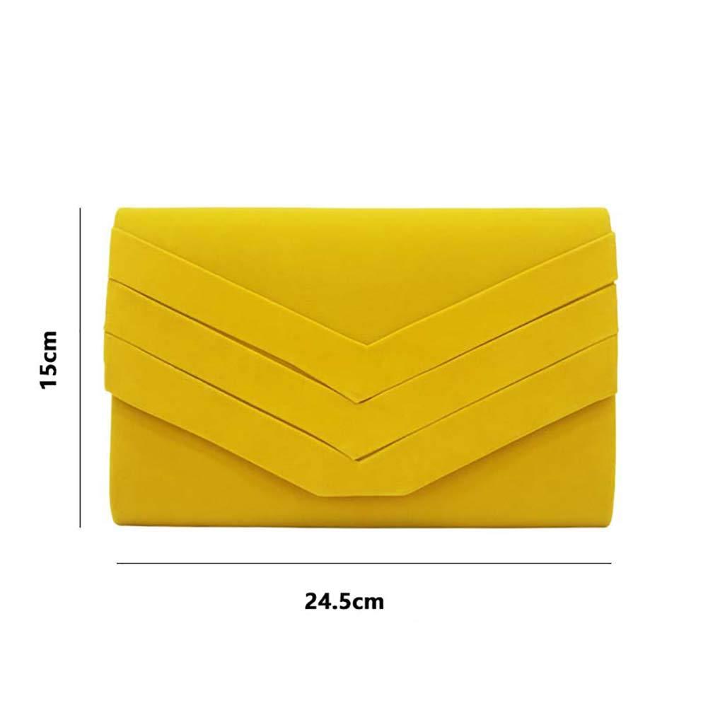 Sac /à Main Clutch Enveloppe /él/égant pour Femme YFMXO Sac De Soir/ée Femmes Pochette de Soir/ée avec Longue Cha/înette