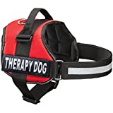 Industrial Puppy Therapy Dog Harness, Medium, Red