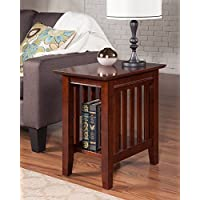 Atlantic Furniture AH13204 Mission Side Table Rubber Wood, Walnut