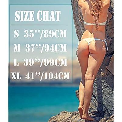 KIWI RATA Womens Swimwear Sexy Tie Side Sweet Heart Brazilian Bikini Bottom Hipster Swimsuit Beachwear Swimwear: Clothing