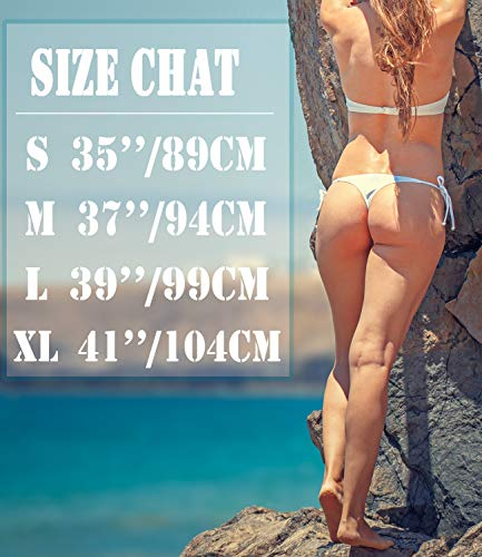 ae8eb34a62 KIWI RATA Womens Swimwear Sexy Tie Side Sweet Heart Brazilian Bikini Bottom  Hipster Swimsuit Beachwear Swimwear