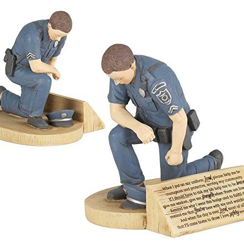 Review Police Officer's Prayer, Kneeling
