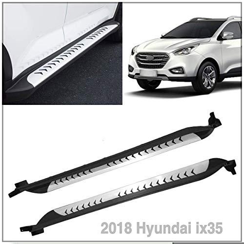 Aluminum Steel Side Step Bars Running Boards Fit 2018 Hyundai IX35 ()