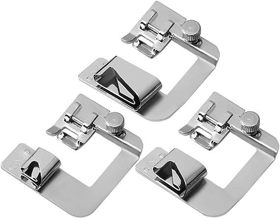 SiMing - Prensatelas para máquina de Coser Baja (3 Unidades, 13/19 ...
