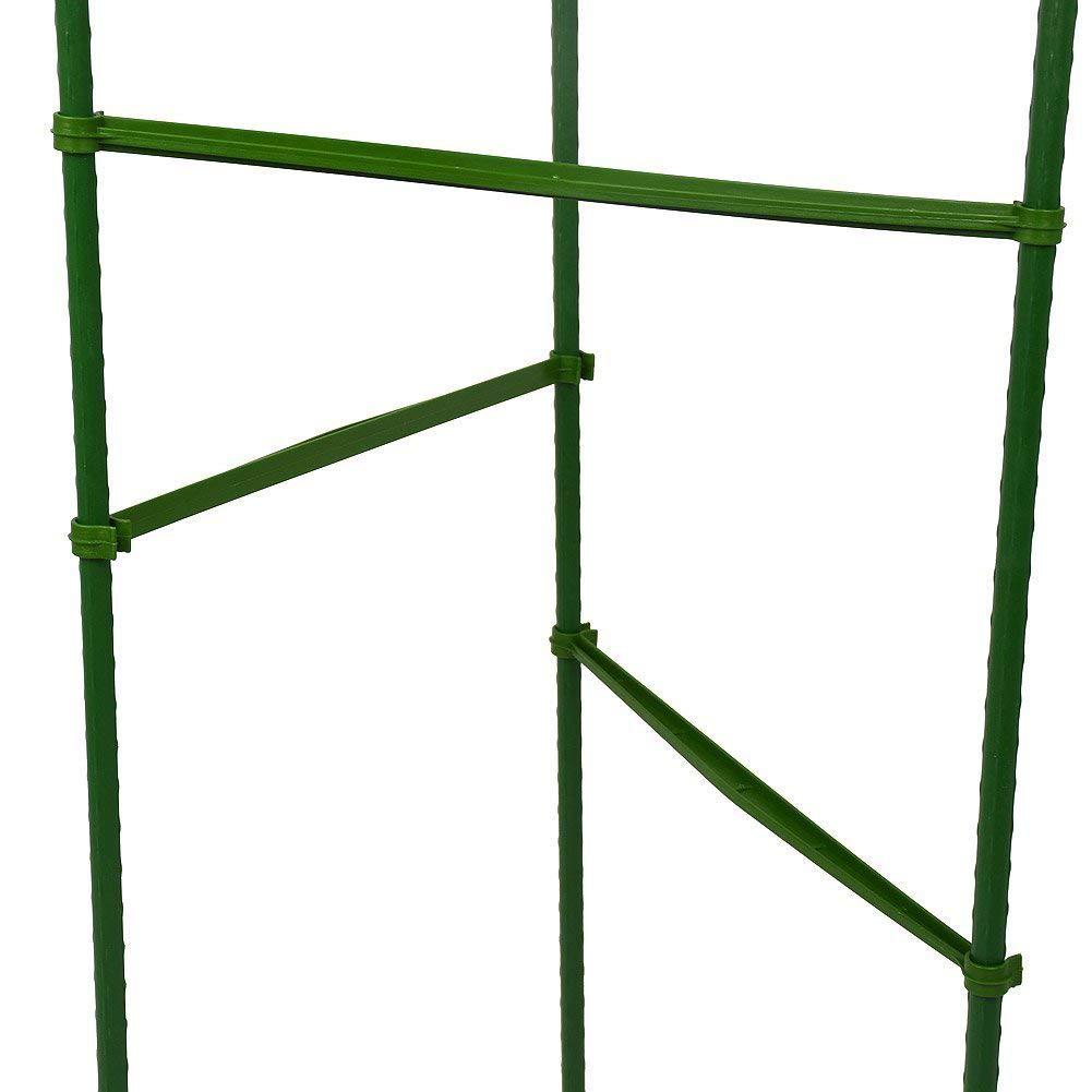 Facethoroughly Plant Stem Support,Support Ring Garden Trellis Flower Iron Support Climbing Plant Grow Cage,12 pcs