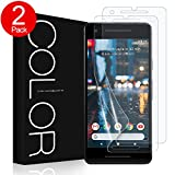 Google Pixel 2 Screen Protector, G-Color Pixel 2 [Not for Pixel 2 XL] Wet Applied TPU Film Case Friendly Screen Protector for Google Pixel 2 (2 Pack)