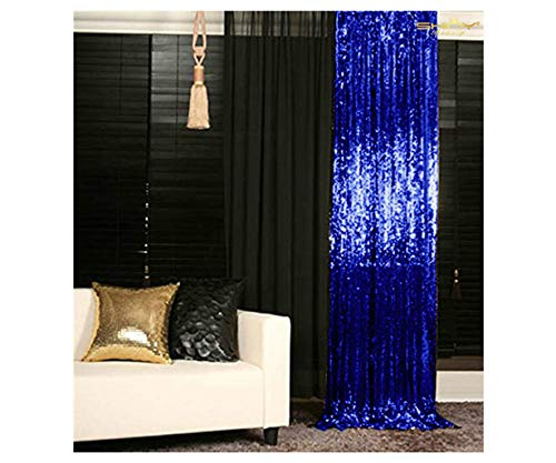 ShinyBeauty Sequin Backdrop 4ftx6ft-Royal Blue-Backdrop Photography and Photo Booth Backdrop for Wedding, Party, Photography, Curtain, Birthday, Christmas, Prom Decoration
