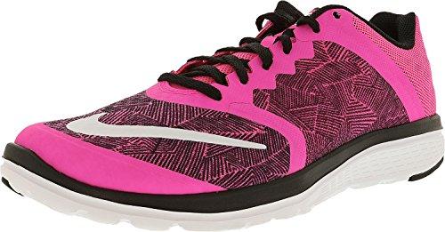 NIKE Womens FS Lite Run 3 Print Ankle-High Running Shoe Pink Blast/Blk/White zNja17OgH3