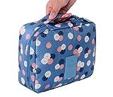 Clearance Storage bins,AIEason Travel Cosmetic Makeup Toiletry Case Bag Wash Organizer Storage Pouch Handbag (Blue)