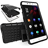 Chevron Tough Hybrid Armor Back Cover Case with Kickstand for OnePlus X (Black)