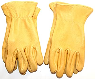 MidWest 950 - Durable ElkSkin Leather Work Gloves for Men (2-Pack) - Made in the USA - Perfect for Construction, Ranch, Carpenter, all Outside Work
