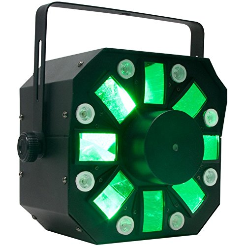 American DJ Stinger | Moonflower effect now with a strobe effect, plus a red & green laser effect. 6 x 5 watt LEDs by American DJ