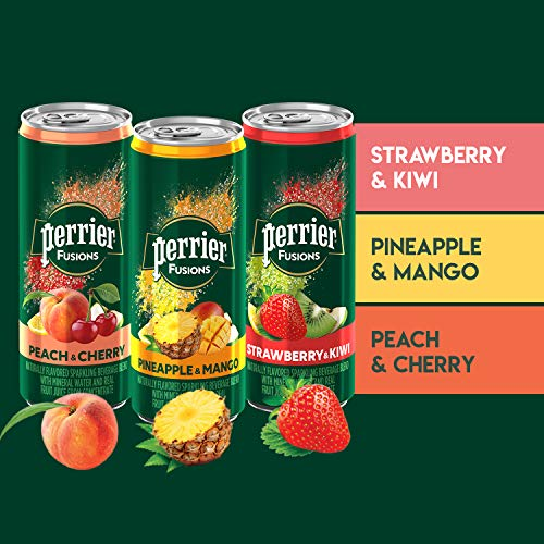 Perrier Fusions, Assorted Flavors, 11.15 Fl Oz Cans (Pack of 18)