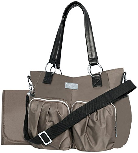 Wendy Bellissimo Main Squeeze Shirred Pocket Tote - Taupe by Wendy Bellissimo