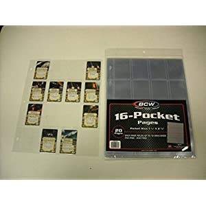 BCW PRO 16-POCKET PAGE – TOPLOAD – (20 CT. PACK) FOR X-WING AND ARMADA UPGRADES