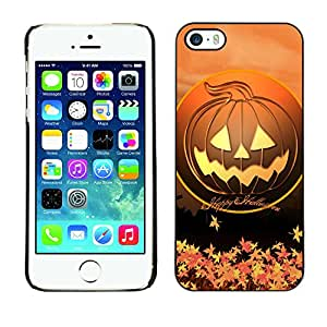 XYTE Slim Case Cover Backcover Frame Shell Apple iPhone 5 / 5S // Halloween Happy Pumpkin //