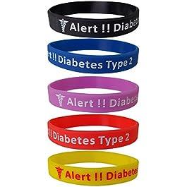 Max Petals Diabetes Type 2 Silicone Bracelet Wristbands – 5 Pack