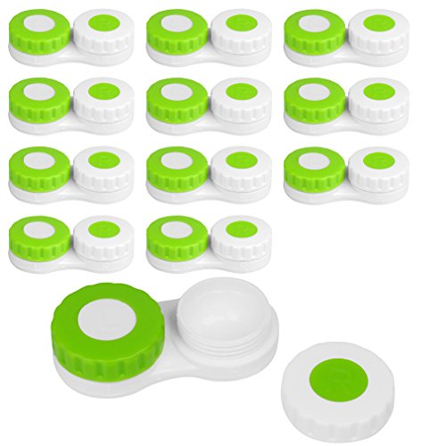 Evelots Contact Lens Cases, Standard Size Soft & Hard Contacts Lenses, Set of 12