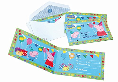Peppa Pig-6Invitations with Envelopes (Verbetena 016000719) ()