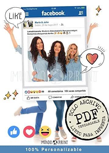 PDF de Marco photocall DIY personalizado Facebook. (Solo