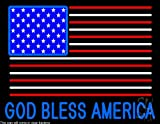 God Bless America Clear Backing Neon Sign 24'' Tall x 31'' Wide