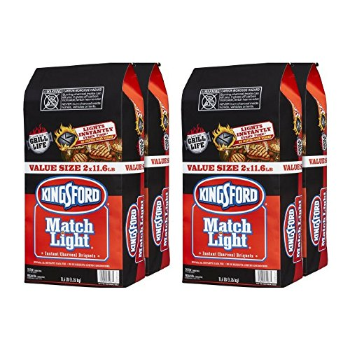 Kingsford 31267 Match Light Charcoal Briquettes, Two 11.6 Pounds (4 pack) by .