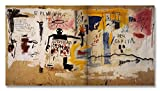Jean-Michel Basquiat Original Graffiti Art Per Capita 1981 Canvas Paintings Hand Painted Reproduction Unframed Tablet - 48X26 inch (122X66 cm) for Living Room Wall Decor To DIY Frame