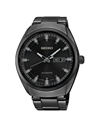 Seiko Men's SNKN43 Analog Display Automatic Self-Wind Black Watch