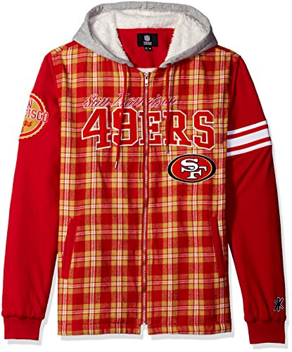 San Francisco 49ers Flannel Hooded Jacket - Mens Extra Large