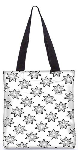 """Snoogg Grau Sterne Tragetasche 13,5 X 15 In """"Einkaufstasche Dienstprogramm Trage Von Polyester Canvas"""