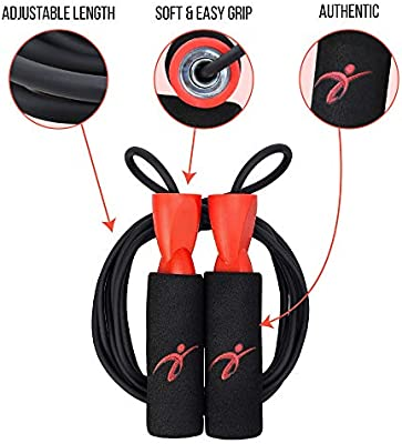 Aerobic Exercise Boxing Skipping Jump Rope Adjustable Bearing Speed Fitness BR