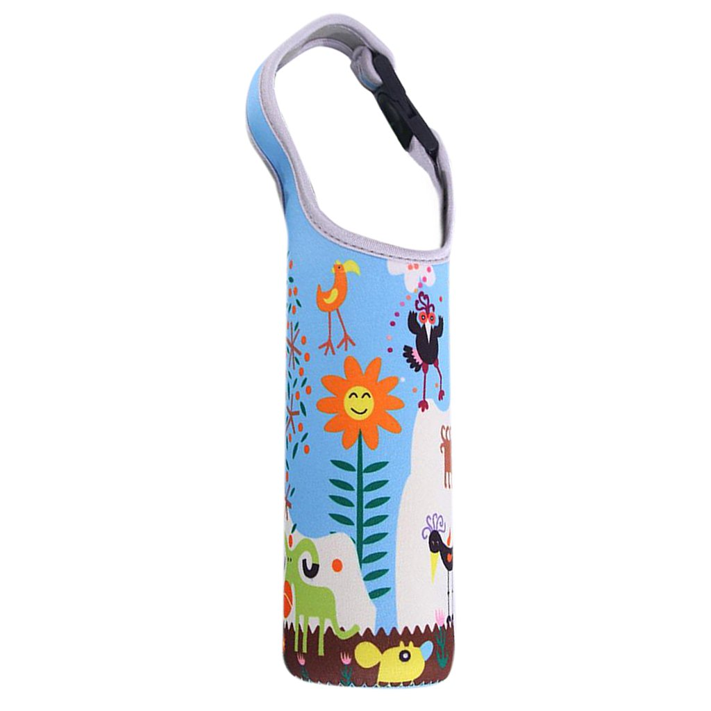 Homyl Neoprene Thermal Travel Vacuum Mug Bottle Bag Tote Cover Holder Camping - Nature